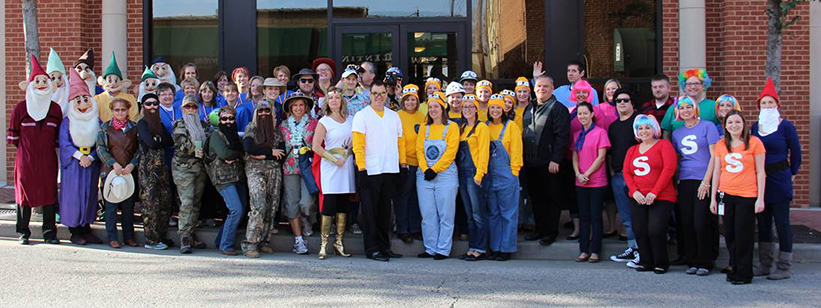 Bank of Washington employees dressed up for halloween 2015