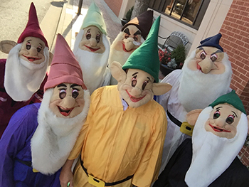 Bank of Washington employees dressed up as gnomes for Halloween 2015
