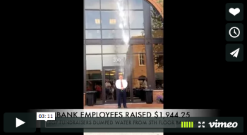 Bank of Washington president getting buckets of ice water poured on him during Ice Bucket Challenge