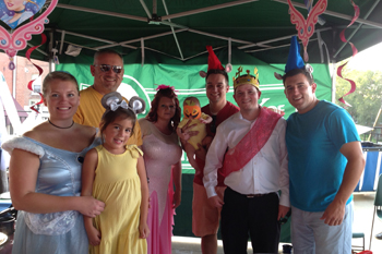 Bank of Washington employees dressed up at characters from Cinderella fro Chili Cook-Off